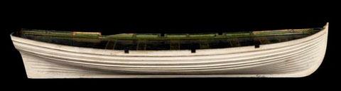 Modèle de canot à clin de la marine anglaise de 1826 (National Maritime Museum F8933)