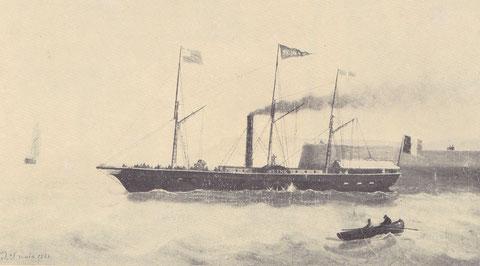 Paquebot la Seine construit en 1835 aux chantiers Augustin Normand, le Morlaisien devait être très proche de ce paquebot de même taille