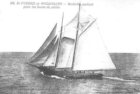 La goélette Pacifique construit en 1888 à Saint-Pierre devait certainement ressembler à celle-ci