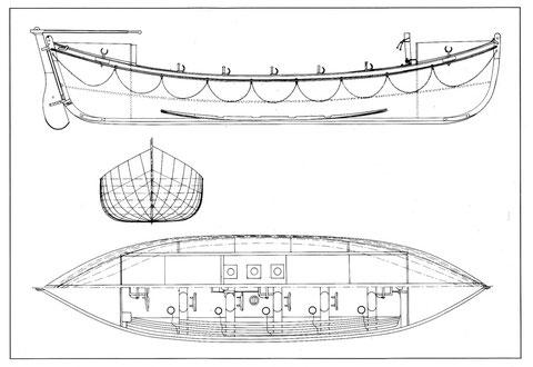 Le Léonie est un canot à redressement de 9,78m  c'est le N°11 de cette série construit par le chantier Augustin Normand au havre