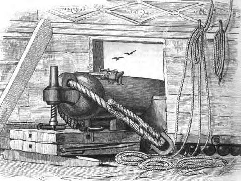 Caronade, l'armement « moderne » de l'époque , d'origine anglaise et principalement utilisée sur les navires anglais.