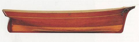Demi-coque du trois mâts du Havre  « Belle Anaïs » de 404 tx construit 1853 pour M. Irasque par le chantier Lefoulon de Honfleur.