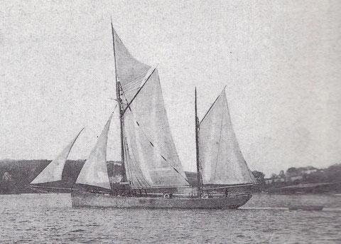 Dundée quittant le port de Tréguier