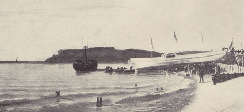 Lancement d'un paquebot au chantiers Augustin Normand du Havre en 1836