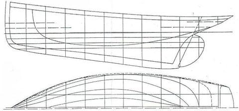 Transversal et lignes d'eau du Roscovite 1886