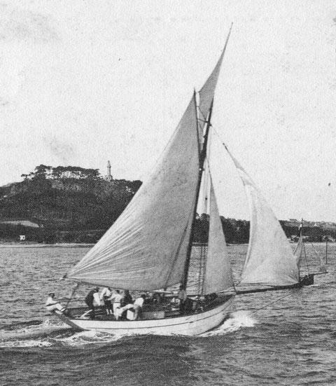 Un joli yacht aux formes proches des langoustiers de Loguivy, aux régates de Paimpol