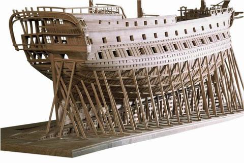 Vaisseau de 74 canons par Ollivier Bellot, 9000 heures de construction