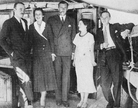 Etienne de Ganay, Régine Van den Broek, Charles van den Broek, Monique de Ganay, Jean Ratisbonne