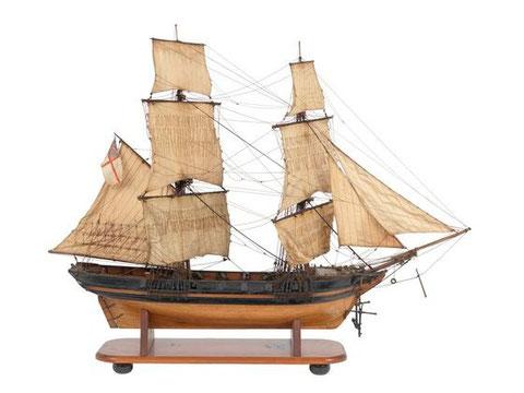 Modèle de Brig anglais de 10 canons de 1830 (National Maritime Museum F7806)