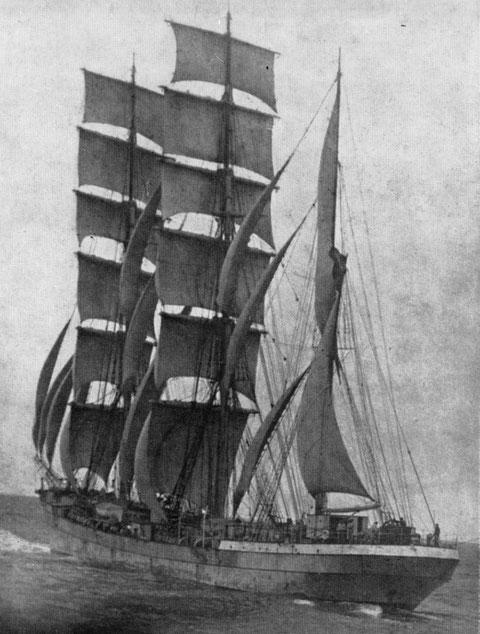 Trois mâts barque Babin-Chevaye commandant Louis Lacroix