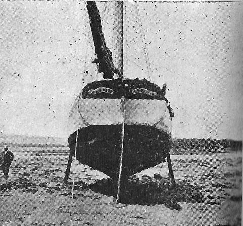 La Marie à M. GLaizot  a été photographié par le reporter du journal le Yacht  sloup à tableau construit chez Kerenfors
