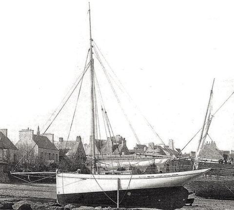 Le Roscovite armé à Roscoff, juste après sont lancement en 1886