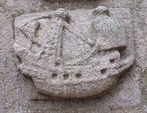 Navire sculpté, au XVIème siècle, dans le granit sur l'église de Roscoff, le Jonas devait lui ressembler