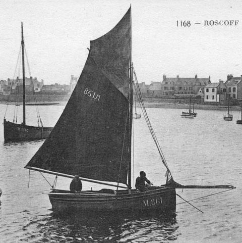 Petit sloop Roscovite vers 1910