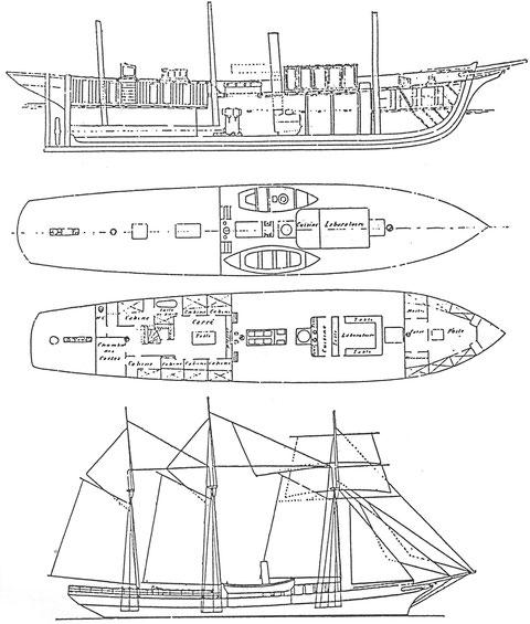 Avant-projet du Français par Boyne publié dans le journal le Yacht