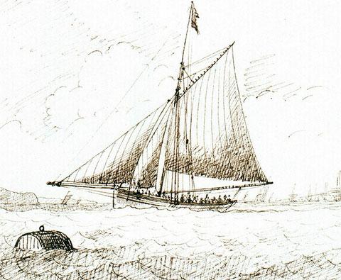Très joli cotre anglais vers 1820 (Collection national Maritime Muséum)