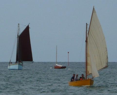 Ausquémé, un cat-boat Jezequel et Kernoc'h