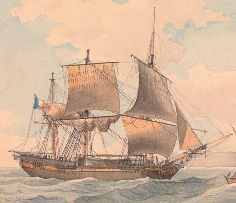 L'Espérance de Brest était peut être comme ce trois-mâts (Collection National Maritime Museum)