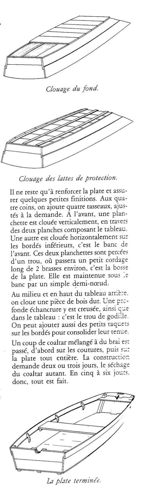 Description de la construction d'une plate goémonière par Pierre Arzel (Les goémoniers 1987)