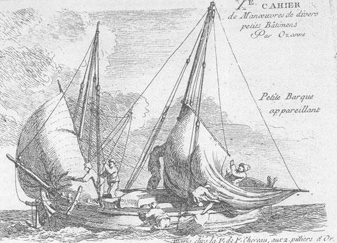 Type de navire marchand : chasse marée avec taillevent à corne, P Ozanne