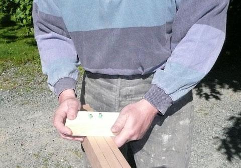 Tracé de la section octogonale au trusquin diviseur