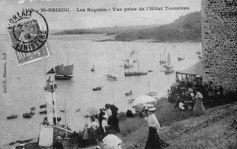 Les régates du Légué attirent le public,  une série est réservé au bateaux chalutiers ayant leur chalut à bord