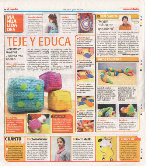 Tejiendo Perú en el diario El Popular de Perú