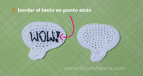 Cómo tejer burbujas de texto de comic como marcador de libros (crochet comic bookmark)