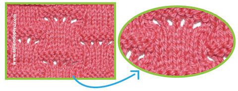 Cómo tejer el punto disminución escalera con ladrillos en dos agujas o palitos