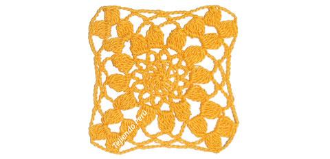 Bolero de primavera / verano tejido a crochet con solo 10 grannys! Varias tallas... paso a paso!