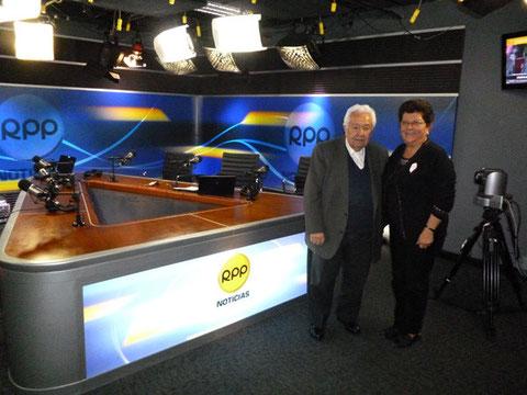 Con el Sr. Miguel Humberto Aguirre de RPP Radio