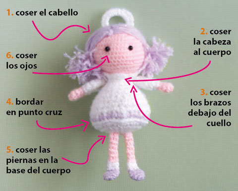 Tutorial: ángel amigurumi (crochet)