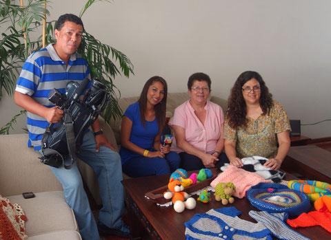 Con Hellen Bances y Dany Felipa de Atv