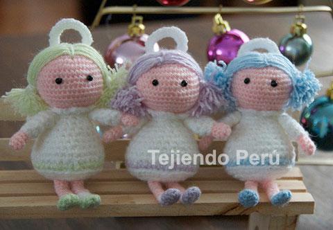 Tejiendo Peru Tutorial Amigurumi : angel amigurumi - Tejiendo Per?