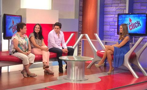 Con Mirtha Ibañez en el programa Doble Click de Atv