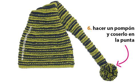 Gorro de duende o elfo (crochet elf beanie) - Tejiendo Perú