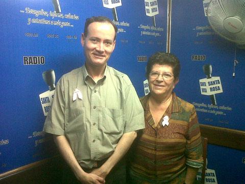 Con Ernesto Jara en Radio Santa Rosa