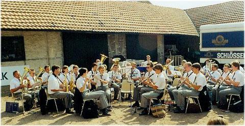 Früschoppen mit dem Städtischen Musikverein Erkelenz bei den Erkelenzer Musiktagen Hohenbusch 1999