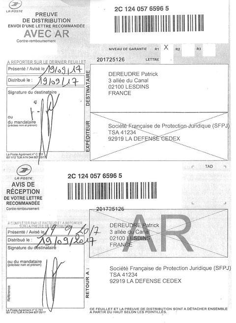 SOGESSUR Groupe Société Générale LRAR N° 2C 124 057 6596 5  Site de Patrick DEREUDRE www.maisonnonconforme.fr