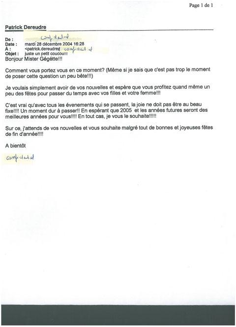 Mail d'une jeune fille en contrat PRO Licence