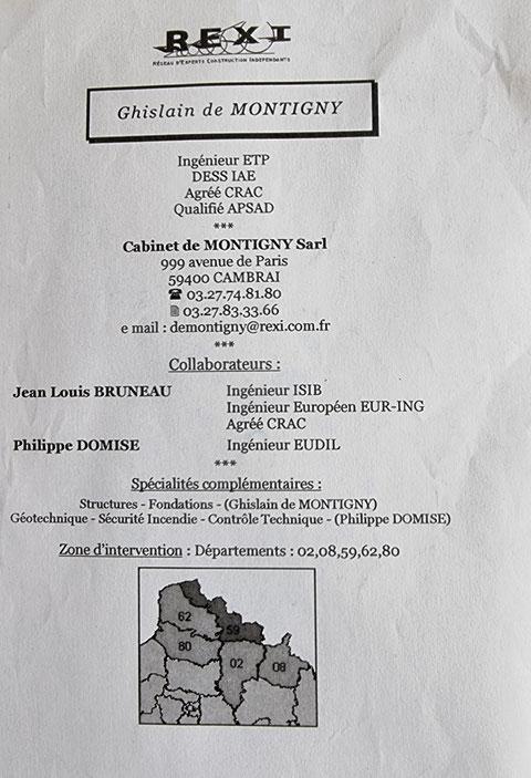 Monsieur Ghislain de MONTIGNY de CAMBRAI (59) Expert Mandaté par la SMABTP Une Expertise entre Copains pour les Copains www.jenesuispasunchien.fr www.jesuisvictime.fr www.jesuispatrick.fr