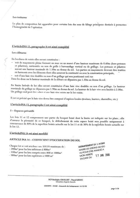 Cahier des charges du lotissement LA MALADRERIE à LESDINS Page 4 sur 28   voir site www.maisonnonconforme.fr