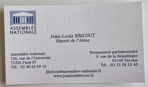 Monsieur Jean-Louis BRICOUT Député de l'Aisne Maire de BOHAIN EN VERMANDOIS www.jenesuispasunchien.fr www.jesuisvictime.fr www.jesuispatrick.fr