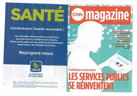 Magazine CFDT N°412 Avril 2015 avec avec son partenaire MACIF SANTE construison l'avenir ensemble !
