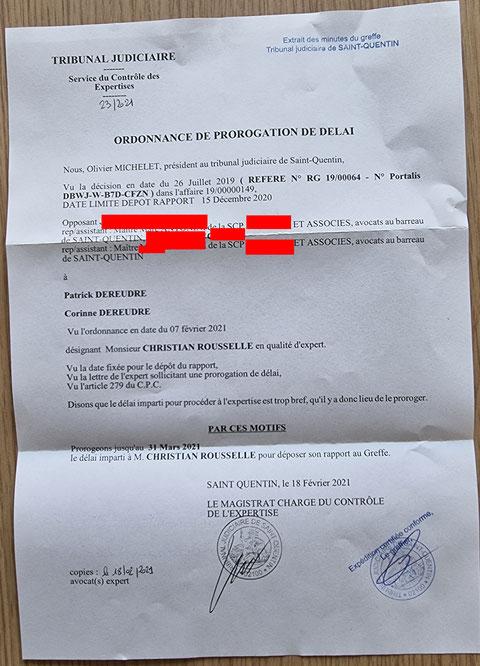 Ordonnance du 18 Février 2021 de Prorogation de délai AFFAIRE Mes Chers VOISINS www.stopcorruptionstop.fr www.justicemafia.fr www.jenesuispasunchien.fr www.jesuisvictime.fr www.jesuispatrick.fr