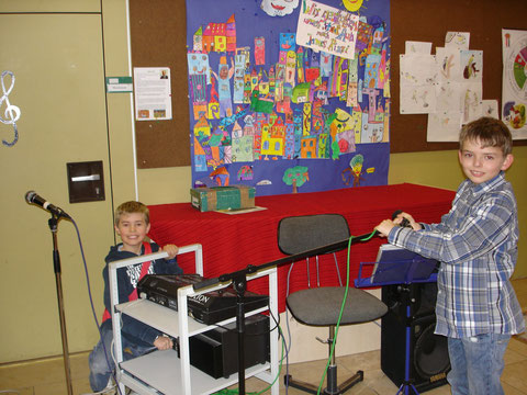 Tontechniker Philipp und Lukas