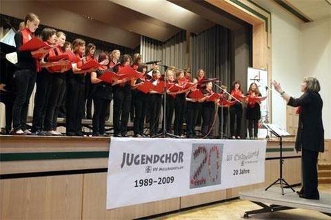 20 Jahre Jugendchor SV Mellrichstadt - 2009  Leitung: Marianne Klemm