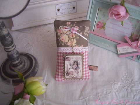 """*** collection printemps *** coussin déco/plaque de porte lavande """" carte postale so shabby -cpl0322181-"""