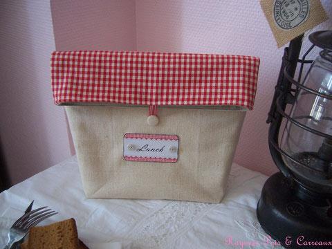 """Lunch Bag """" Maison de Charme """" - 25euros (frais de port compris)- réf: Lbg0914161"""