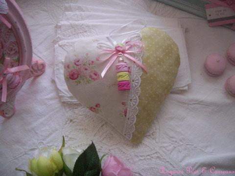 """*** prélude collection printemps *** aux délices shabby: coeur de lavande déco """" bouquets et macarons """" -cl0303181-"""